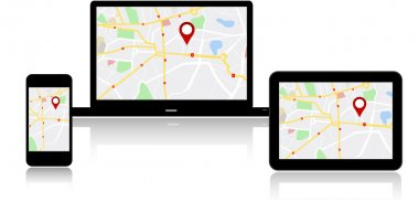 Navigation map on on multiple devices