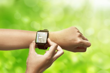 Hand setting route for GPS on the smart watch