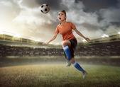Fényképek futball játékos vtsz-labda