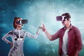 Muž a žena v kybernetickém světě