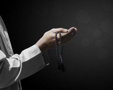 Hand of muslim people with praying gesture