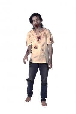 Scary Asian Male Zombie