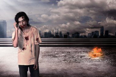 Male zombie call via cellphone
