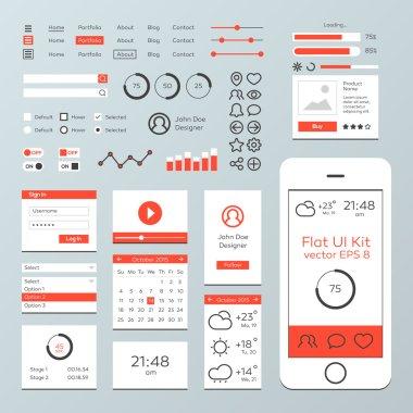 Flat Mobile Web UI Kit
