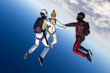 Sport parachutists figure
