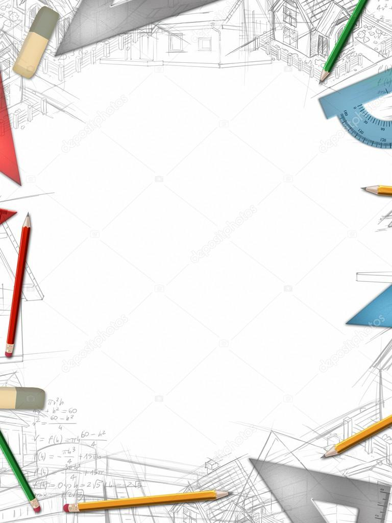 office drawing tools. architectural vertical background with office tools and drawings illustration \u2014 photo by pixeldreams drawing s