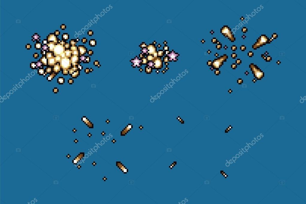 video game star splash explosion animation frames, vector — Stock ...