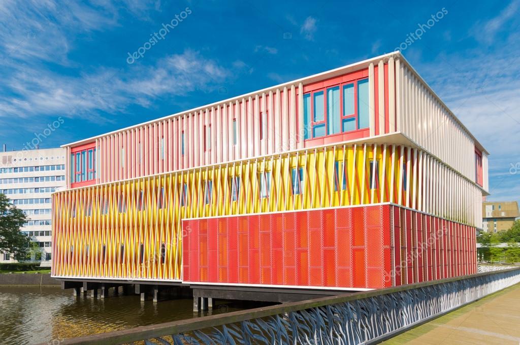 Façade d un immeuble de bureaux moderne à bruxelles belgique