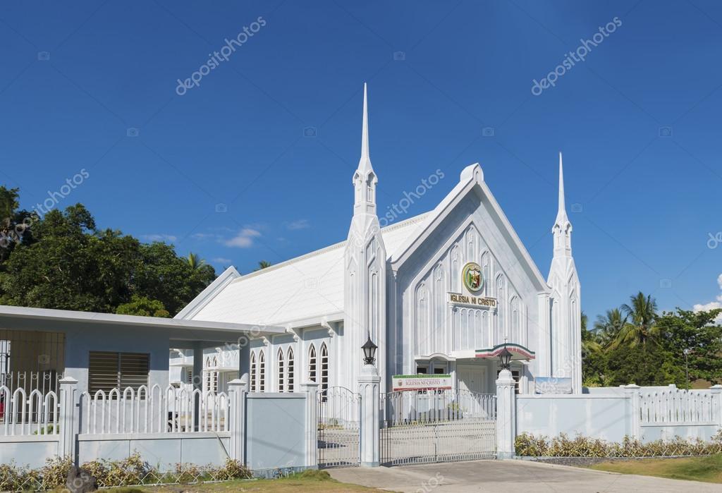 白のカトリック教会 - ストック...