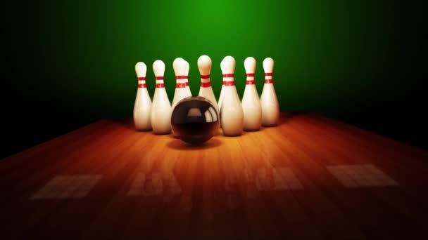 Bowling stávka realistické timewarp 3d animace