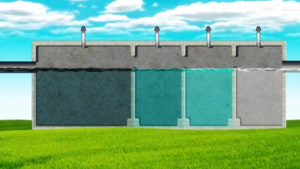 Artificial waste water treatment animation
