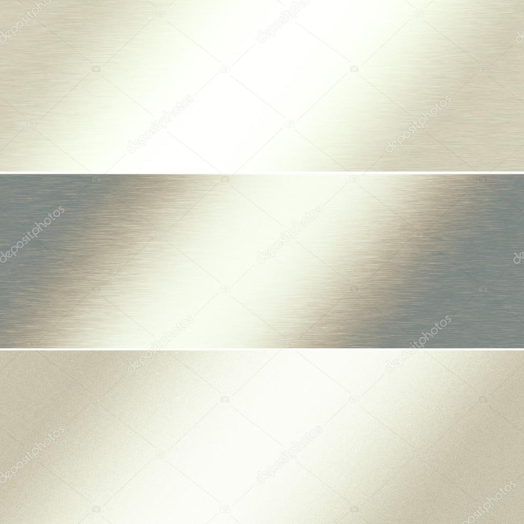 white metal background silver chrome texture banner