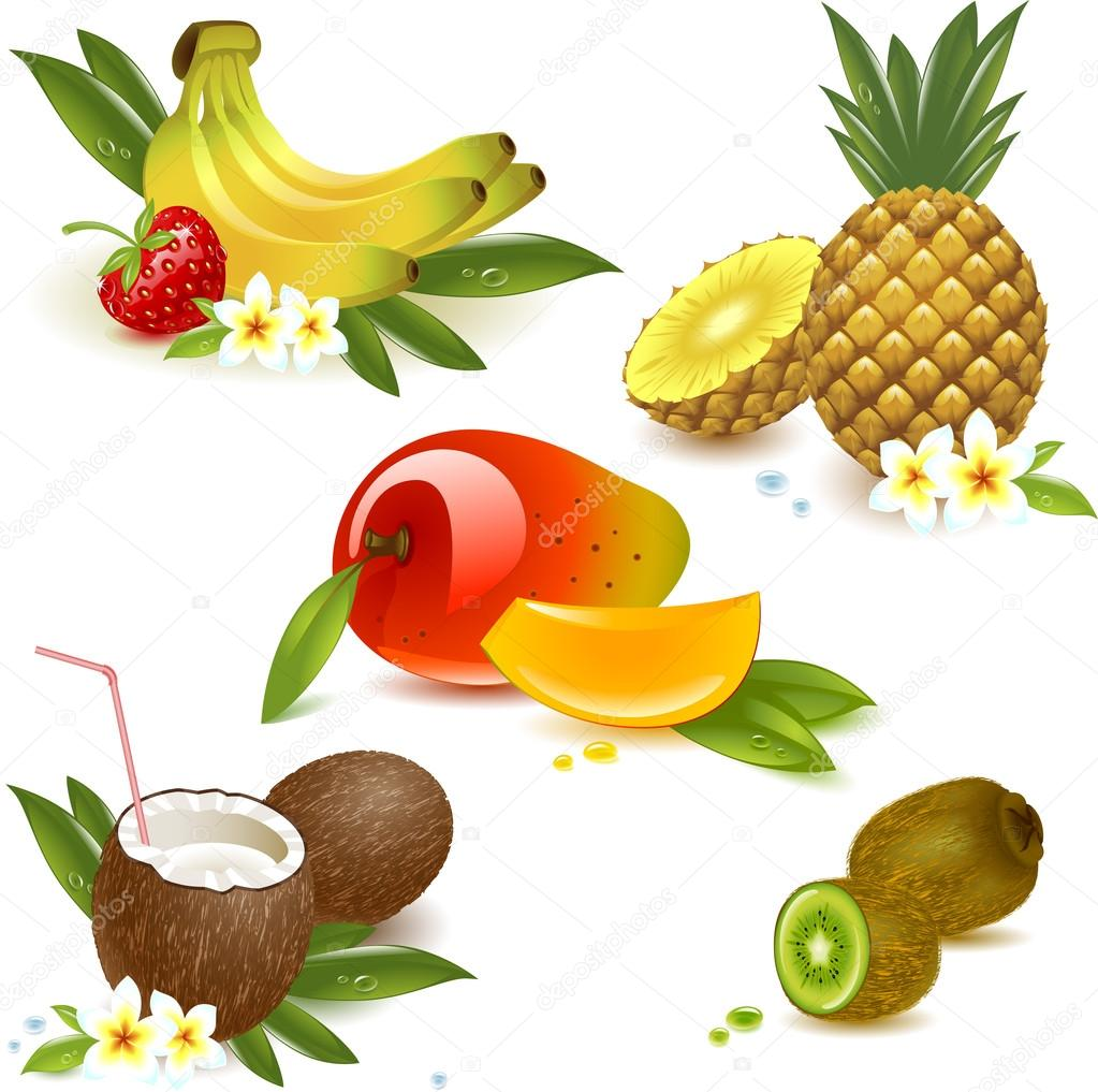 set fruits