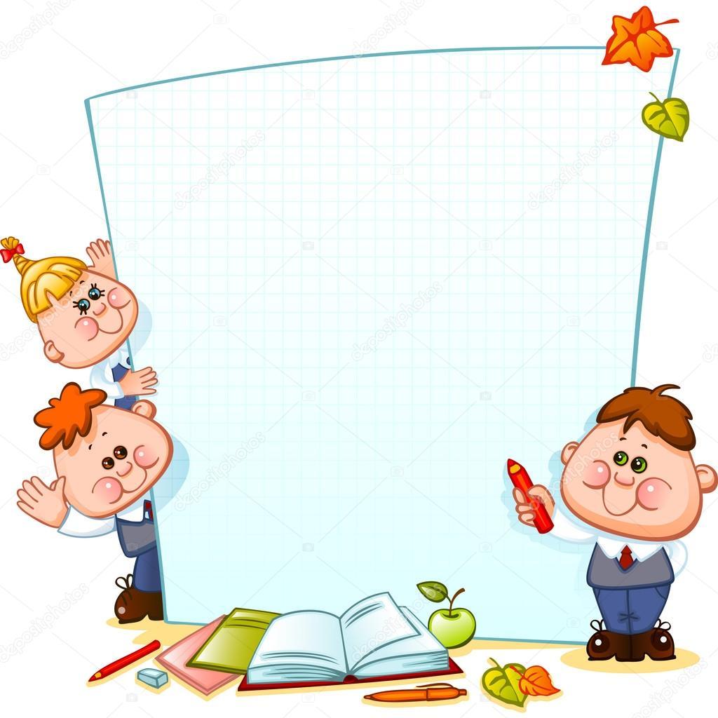 Frame with school children — Stock Vector © Usikova #72407859