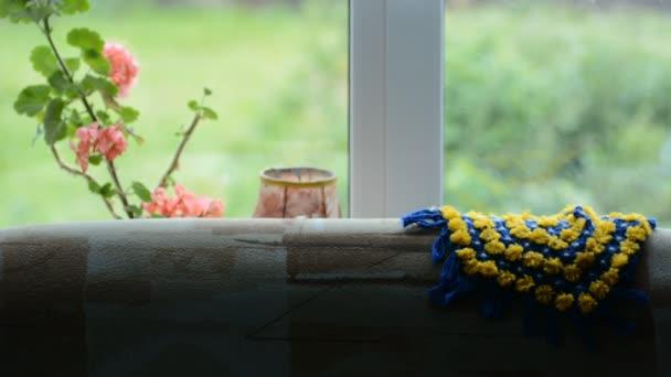 Pohled z okna v obci