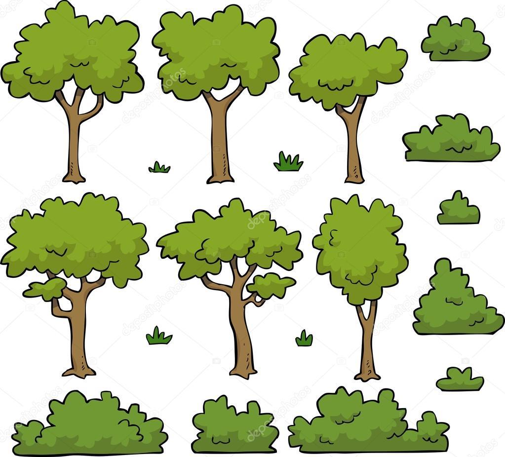 Rboles y arbustos vector de stock dedmazay 100037730 - Arboles y arbustos ...
