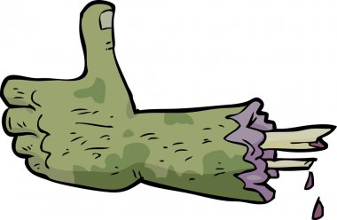 Cartoon zombie hand