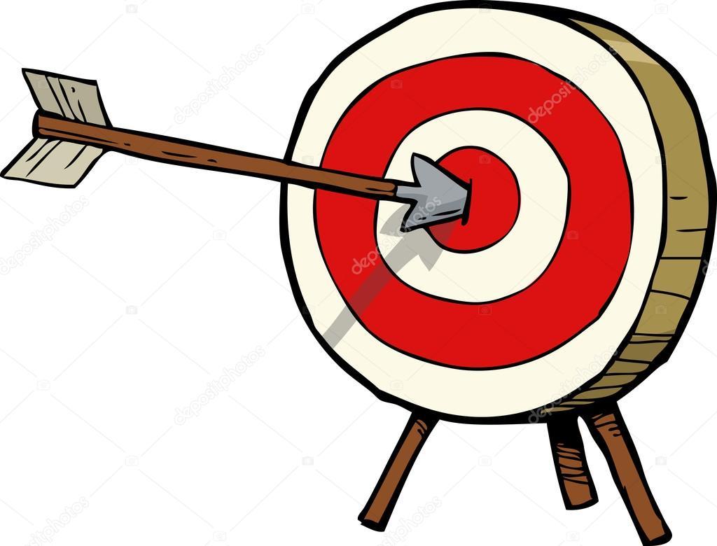 Arrow and target — Stock Vector © dedMazay #98892948