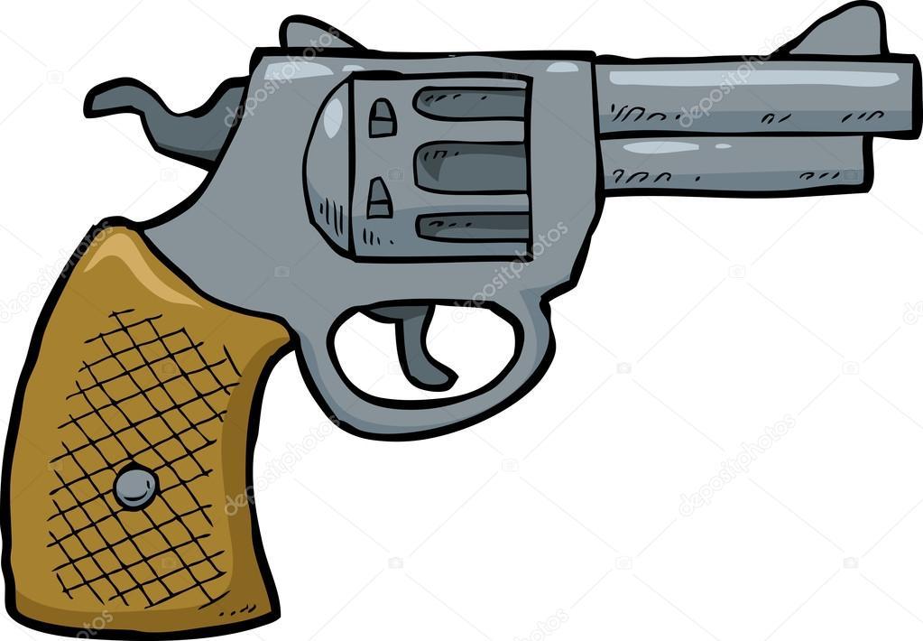 Pistola Revolver De Dibujos Animados