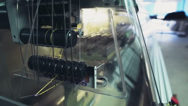 professional equipment of a garment factory slow motion
