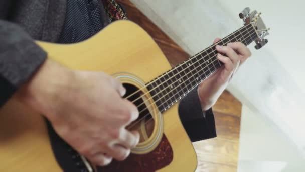 skončit Antická zpomalené akustická kytara