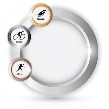 Vector triathlon symbol