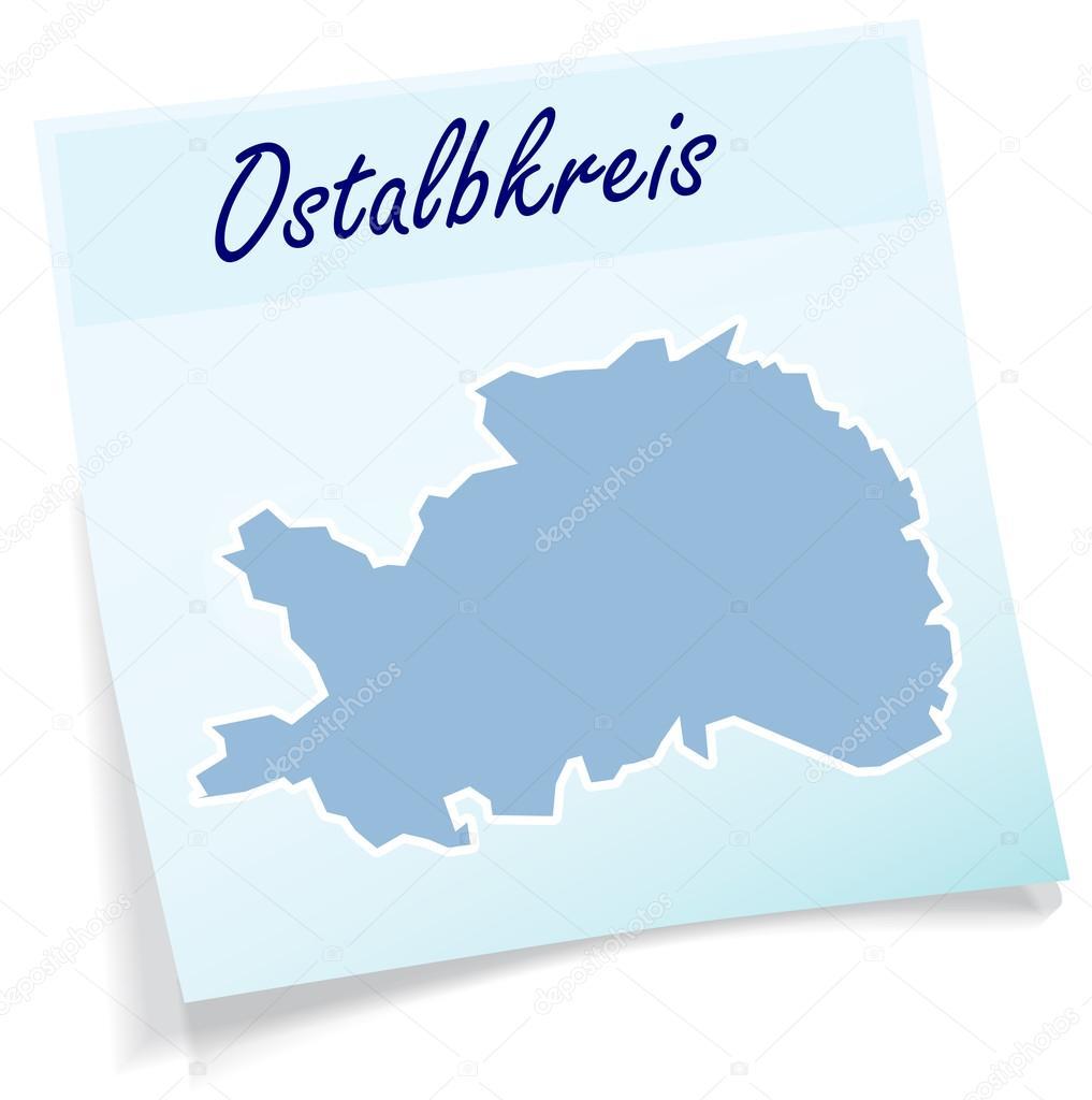 Ostalbkreis Karte.Karte Von Ostalbkreis Als Kurznotiz Stockvektor Artalis 52935081