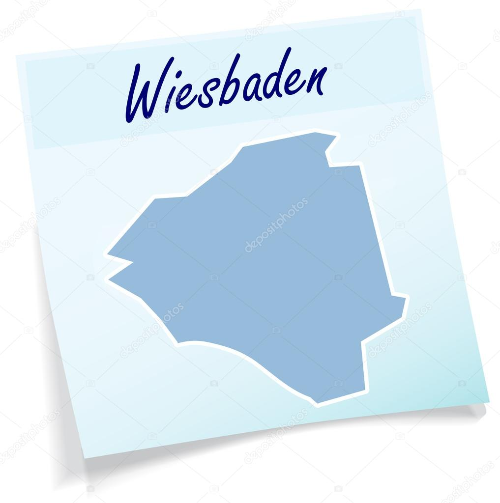 Wiesbaden Karte.Karte Von Wiesbaden Stockvektor Artalis 52936921