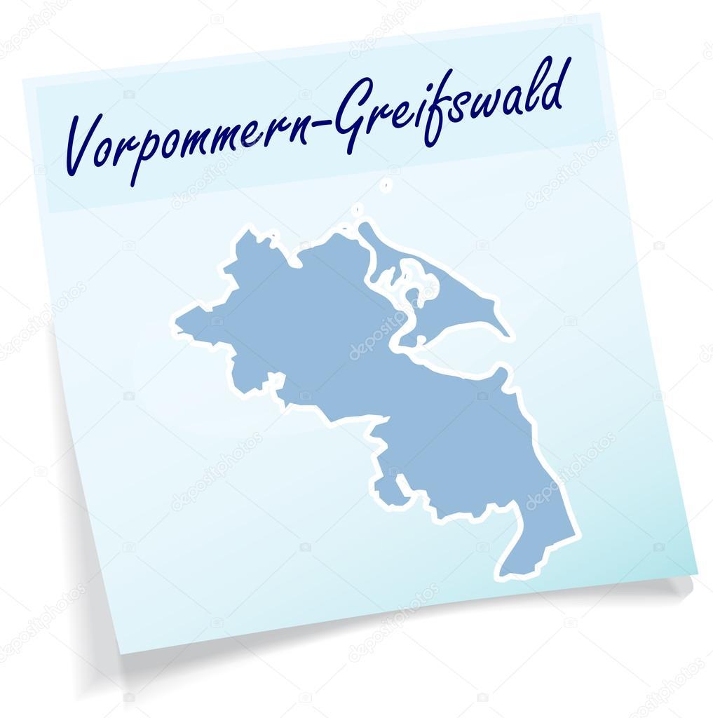 Greifswald Karte.Karte Von Vorpommern Greifswald Als Kurznotiz Stockvektor