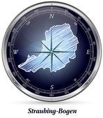 Fotografie Karte von Straubing-bogen