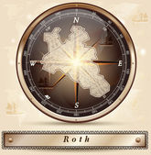 Fotografie Karte von Roth
