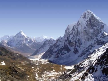 Himalaya Mountains Vector