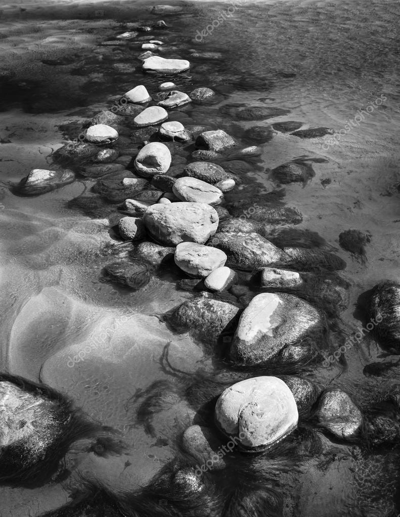 Stepping Stones Black and White