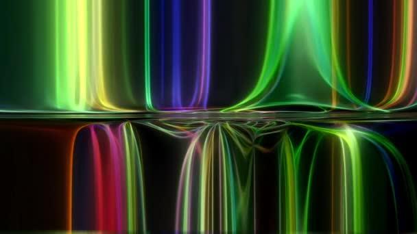 Abstraktní neonové zářící pozadí s tekoucí texturou.