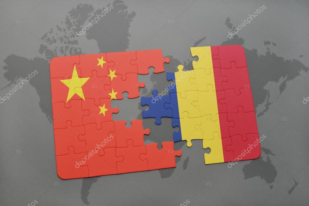 Puzzle with the national flag of china and chad on a world map puzzle with the national flag of china and chad on a world map background 3d illustration foto de ruletkka gumiabroncs Image collections