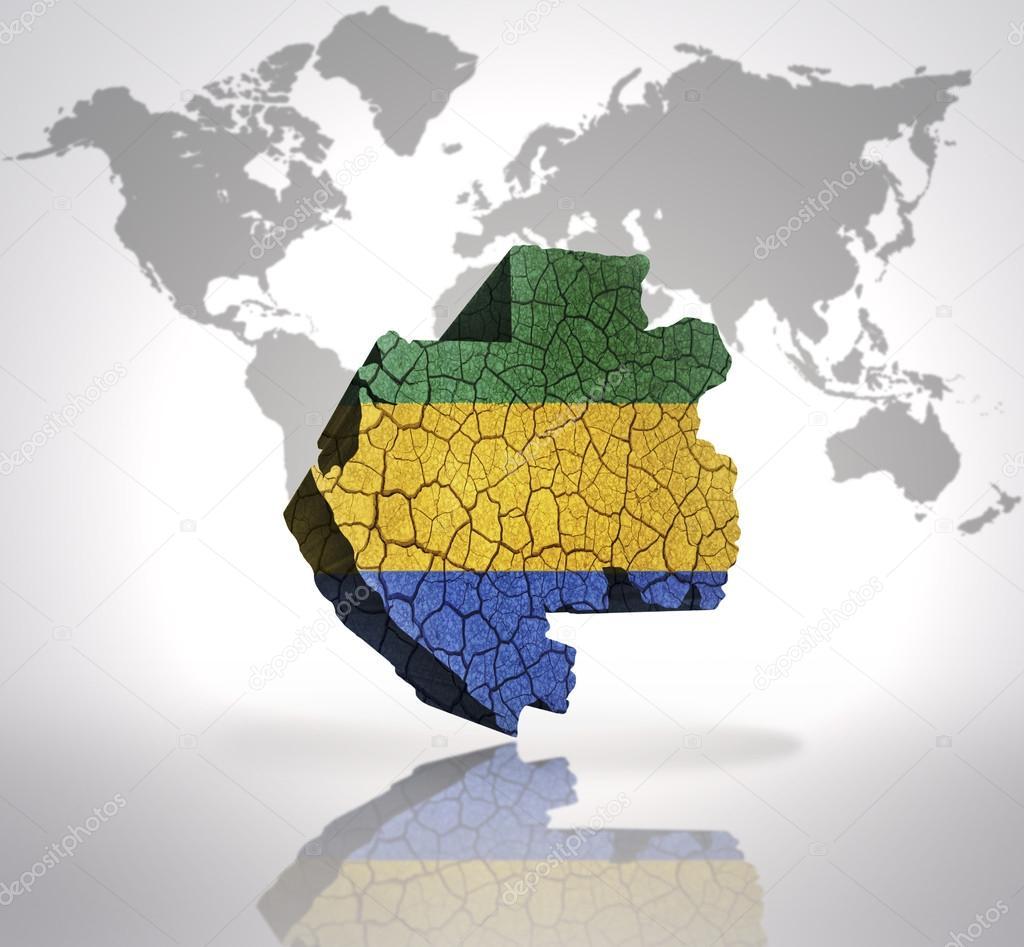 Gabon World Map.Map Of Gabon Stock Photo C Ruletkka 56600149