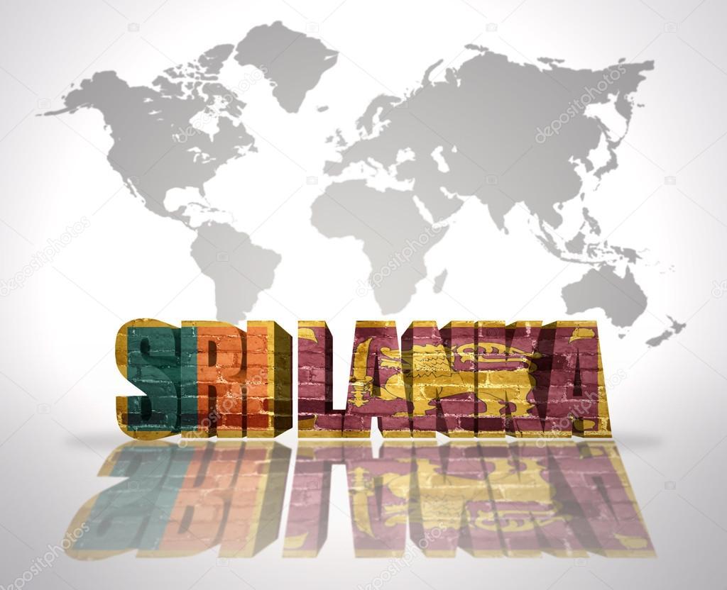 Sri Lanka Karte Zum Drucken.Word Sri Lanka Uber Eine Welt Karte Hintergrund Stockfoto