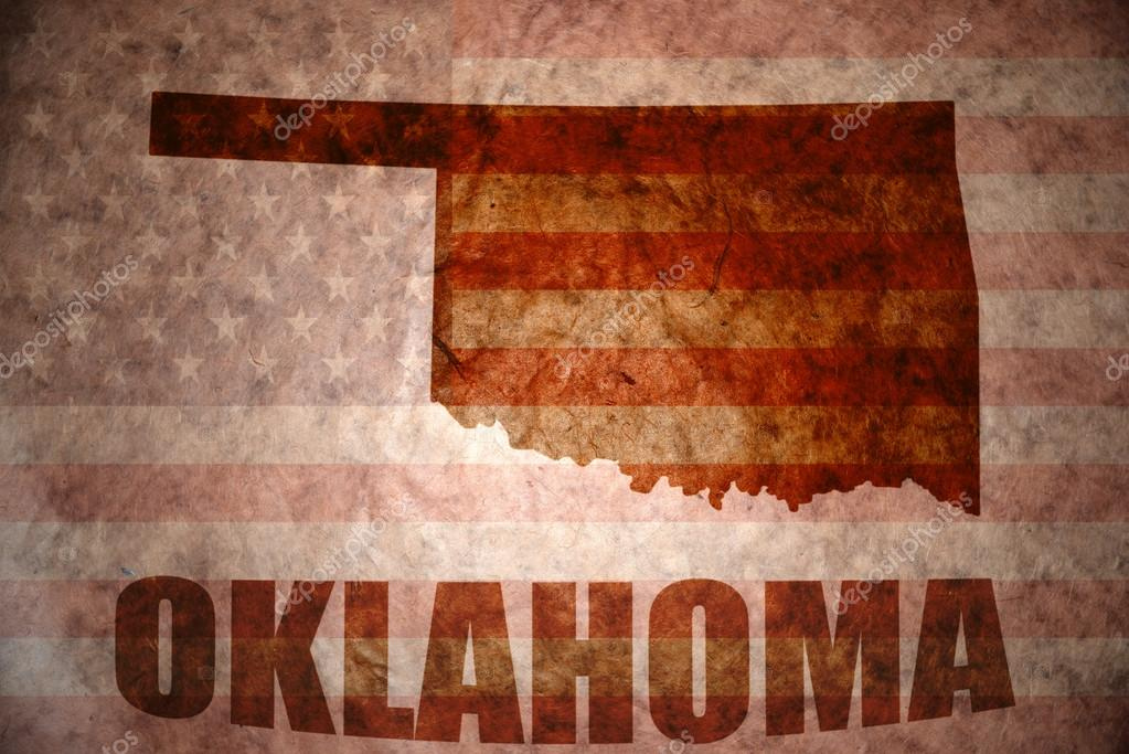 Vintage oklahoma map Stock Photo Ruletkka 64996131