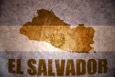 vintage el salvador map