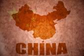 Fotografie china vintage map