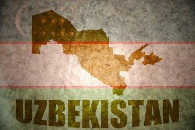 uzbekistan vintage map