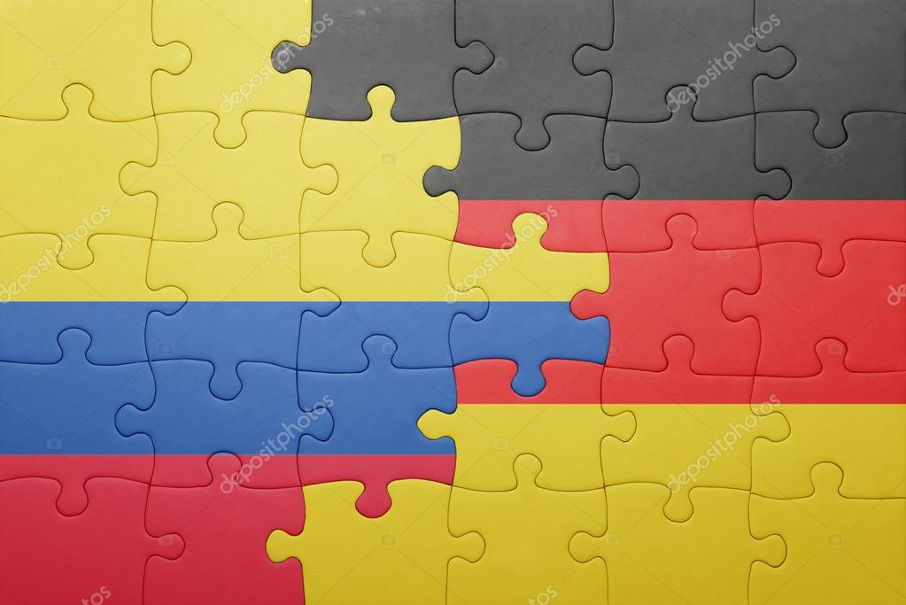 Rompecabezas Con La Bandera Nacional De Alemania Y