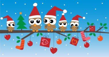 Merry christmas happy holidays header or banner clip art vector