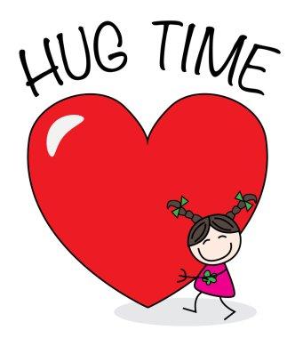 Hug time valentines day or other celebration