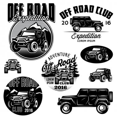 vector templates for SUVs off-road sport club logos