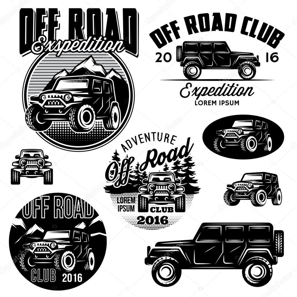 vectores de plantillas para logos de club de deportes Off-Road SUV ...