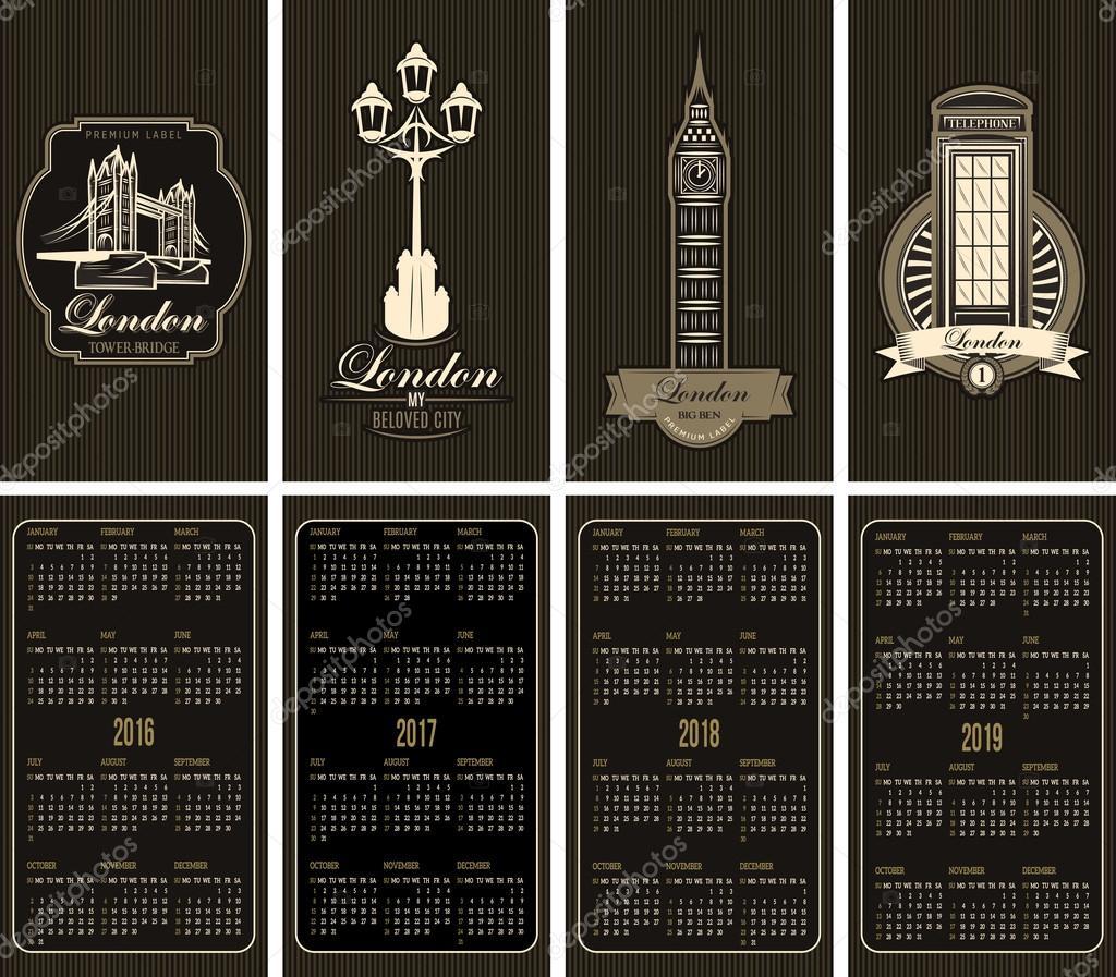 Jeu De Carte Visite Avec Une Grille Calendrier Et Sites Touristiques Londres