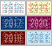 Fotografie vector set of patterns with calendars of different years