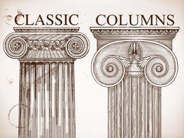 Classical column background set