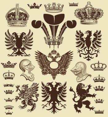 Heraldic elements, set